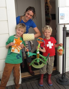 Young artists at Bolinas Museum Class