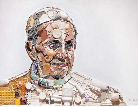 Tess Felix portrait Pope Francis 2015